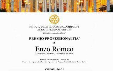 Melito Porto Salvo, Premio Professionalità ad Enzo Romeo