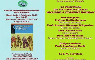 """Reggio Calabria, Cis promuove """"La solitudine del cittadino globale"""""""