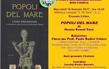 """Reggio Calabria, il CIS presenta il volume """"Popoli del mare"""""""