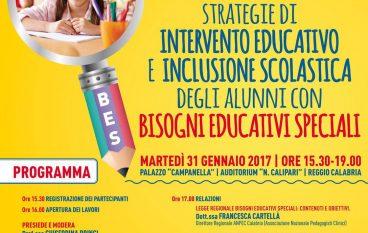 Reggio Calabria, al via seminario formativo su BES