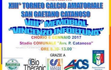 """A Chorio andrà in scena l'ottavo Memorial """"Vincenzo Infortuna"""""""