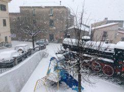 Nevicate in Calabria fino al livello del mare