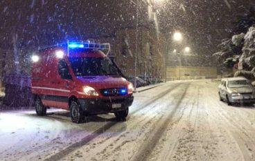 Catanzaro, interventi dei Vigili del Fuoco per la neve