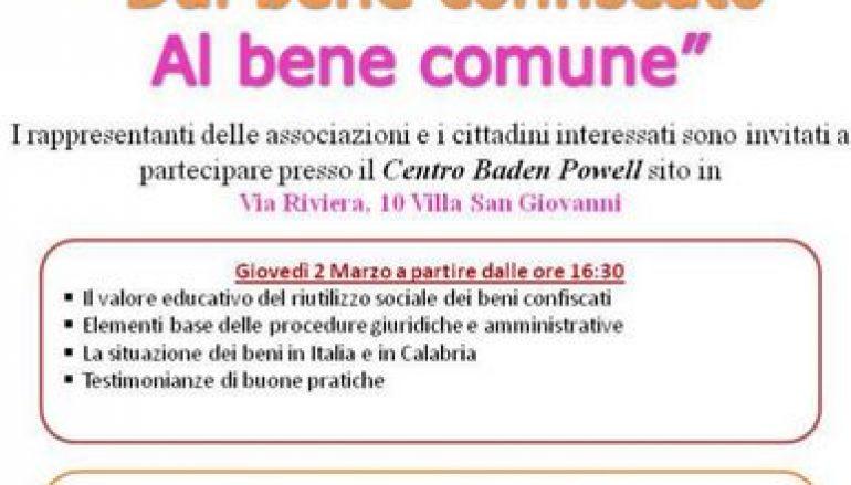 Villa S. Giovanni, percorso di formazione sui beni confiscati
