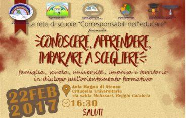 Reggio, progetto sull'orientamento formativo e la continuità scolastica