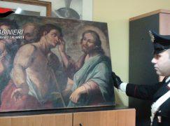 Reggio Calabria, ritrovate opere d'arte trafugate