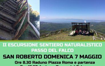 """San Roberto, escursione sul sentiero naturalistico """"Passo del Falco"""""""