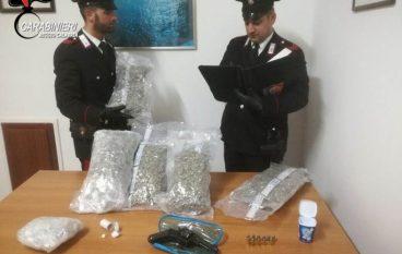 Africo Nuovo, rinvenuti 6 kg di droga e una pistola