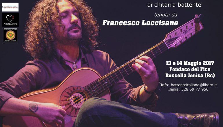 Roccella Jonica, master class di chitarra battente con Francesco Loccisano