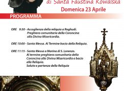 Le reliquie di Santa Faustina Kowalska a Roghudi e Marina di S. Lorenzo