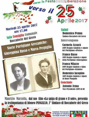 Roccaforte celebra il 72° anniversario della Festa della Liberazione