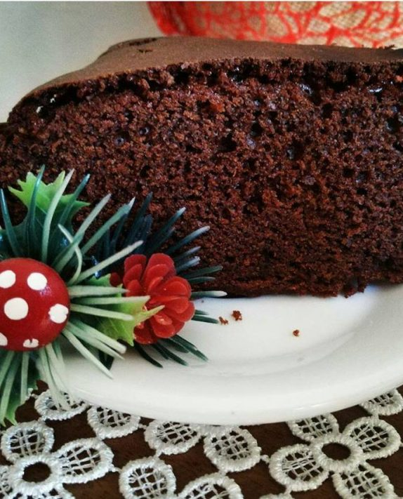 Torta al cioccolato fondente con farina di farro