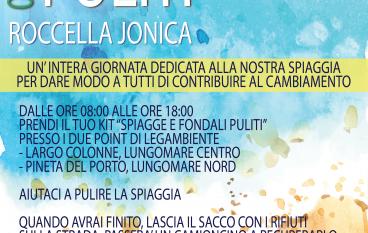 """Roccella Jonica, il 4 giugno l'iniziativa """"Spiagge e Fondali puliti"""""""