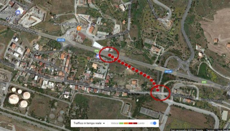 """Svincolo SS 106 e Porto di Saline, segnalazione del Comitato """"Sant'Elia – Tegani"""""""