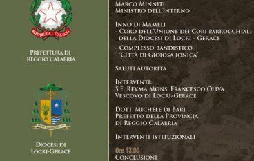 A San Luca il Ministro Marco Minniti