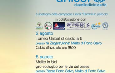 Al via l'Agosto UNICEF 2017: le iniziative a Melito Porto Salvo