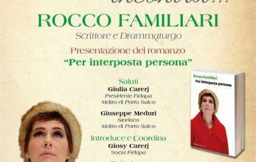 La Fidapa di Melito Porto Salvo incontra l'autore Rocco Familiari