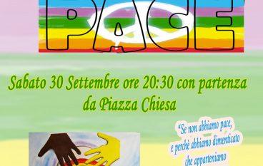 Fiaccolata per la Pace a San Lorenzo Marina, i particolari