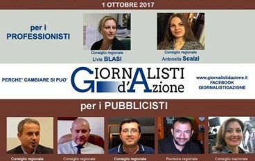 Elezioni Ordine Giornalisti Calabria: Giornalisti d'Azione in campo