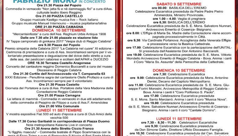 Reggio Calabria, ecco il programma delle celebrazioni mariane 2017