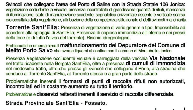 Montebello Jonico sit-in pacifico al porto di Saline