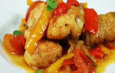 Secondo piatto: Pollo con peperoni