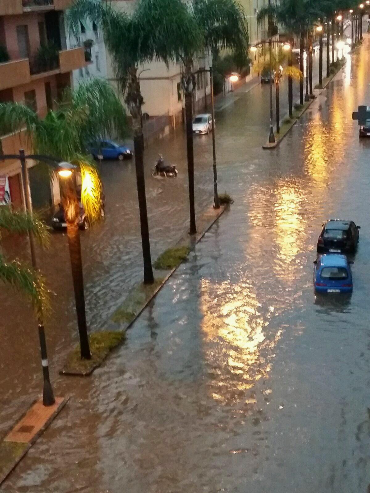 Nubifragio a Reggio Calabria
