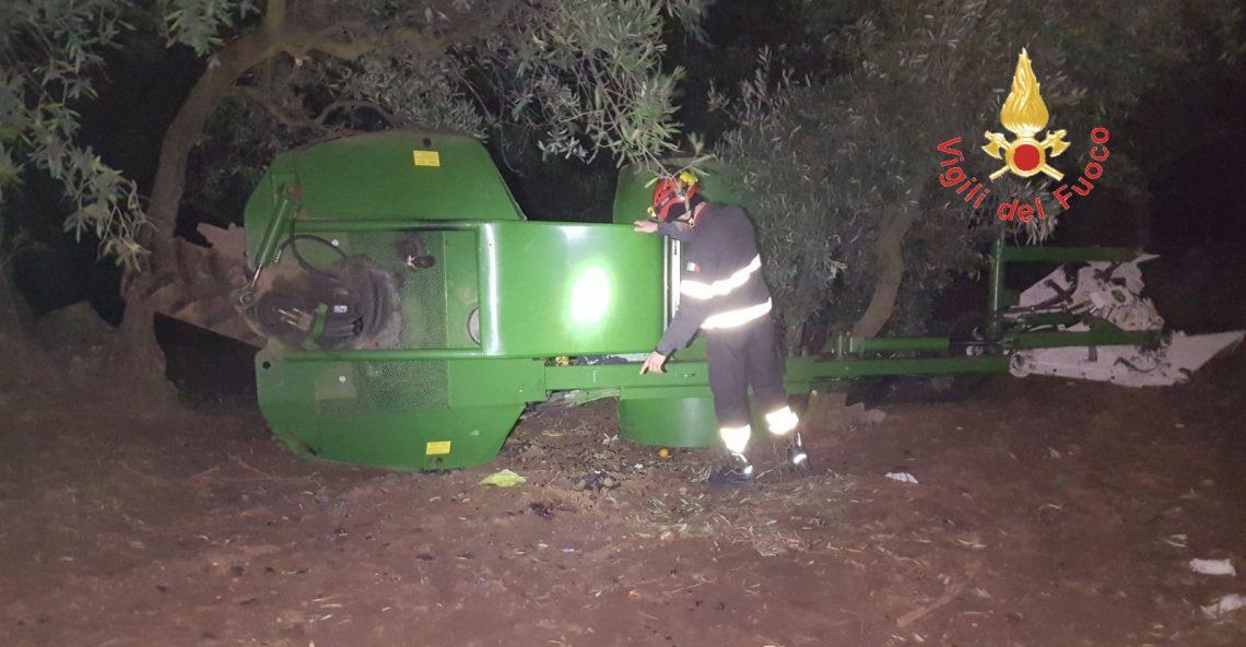 Morte Maida (Cz), si ribalta trattore