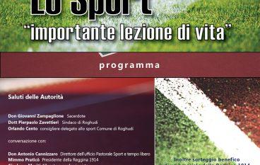 Convegno Sport Roghudi Nuovo: importante lezione di vita