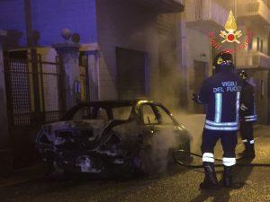 incendio auto Lamezia