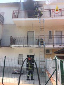 Incendio in abitazione a Nocera Terinese