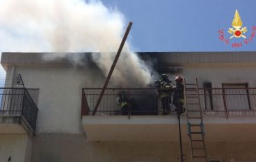 Incendio in abitazione a Nocera Terinese, nessun ferito