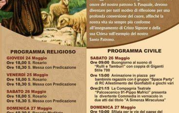 Chorio di San Lorenzo, festeggiamenti per San Pasquale Baylon
