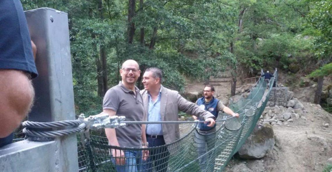 Inaugurato il Ponte Tibetano tra Africo Vecchio e Casalnuovo