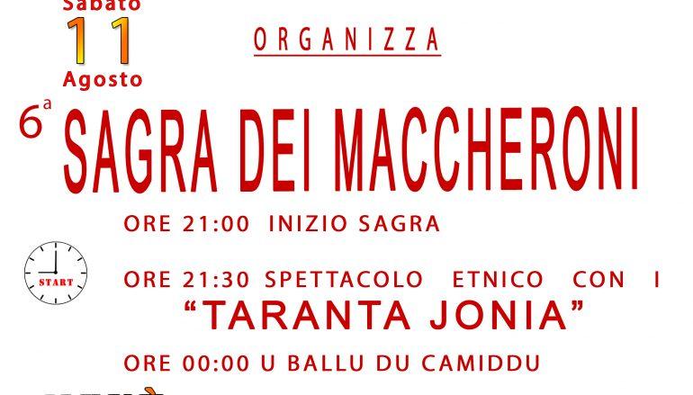 """Pronti per la VI """"Sagra dei Maccheroni"""" a Marina di San Lorenzo"""