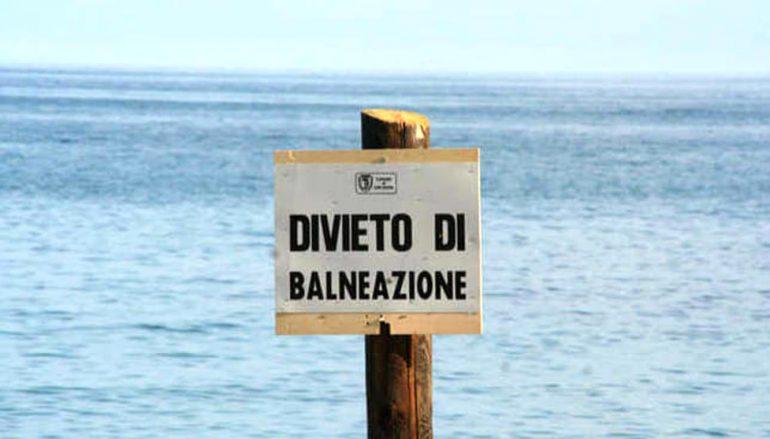 Torrente Sant'Elia, divieto balneazione