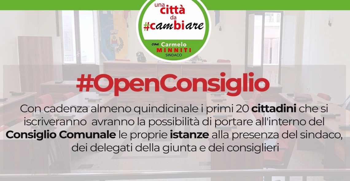 #OpenConsiglio, la proposta arriva da Melito P. S.
