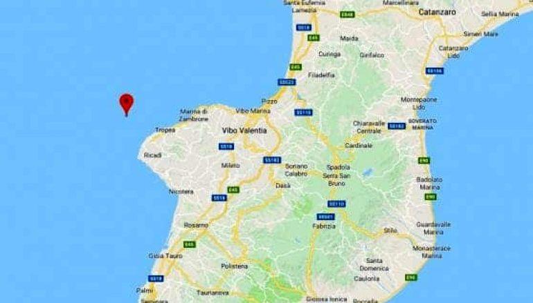 Terremoto in Calabria, scossa a largo di Tropea
