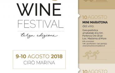 In arrivo la terza edizione del Cirò Wine Festival