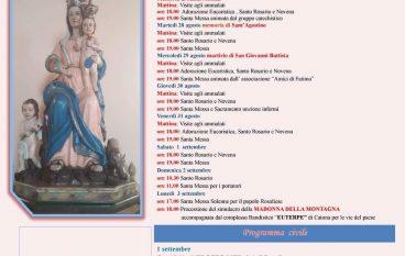 Festa Maria SS Madonna della Montagna a Rosalì, il programma