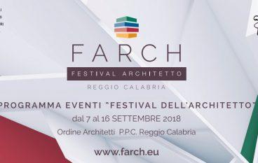 Festival Architetto Reggio Calabria: premio Giovani Architetti