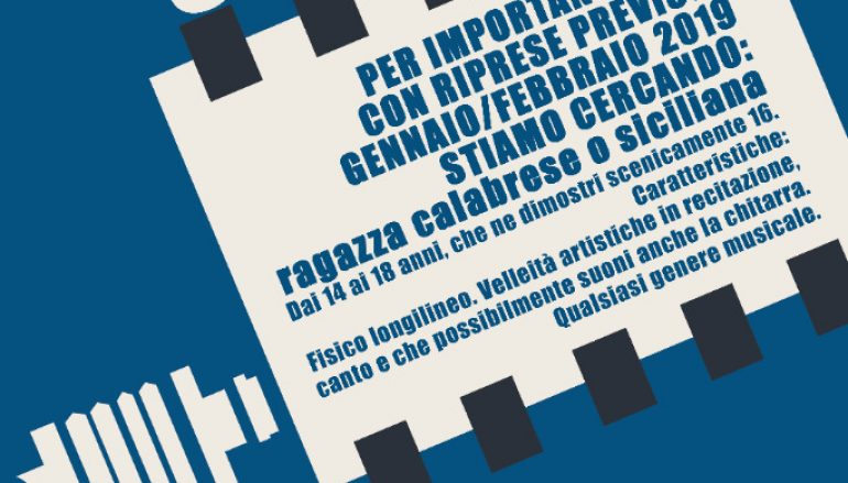Nuovo film in Calabria, aperte iscrizioni
