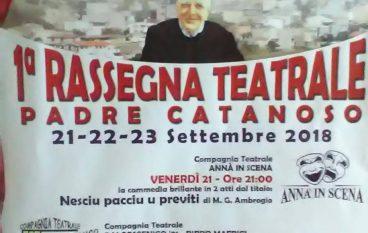Rassegna Teatrale Padre Catanoso a Chorio di San Lorenzo