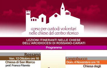 Arcidiocesi di Rossano – Cariati. Chiese Aperte: al via formazione