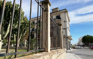 Degrado muro ospedale di Melito Porto Salvo