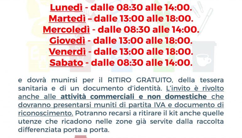Raccolta differenziata a Reggio, modifica orario