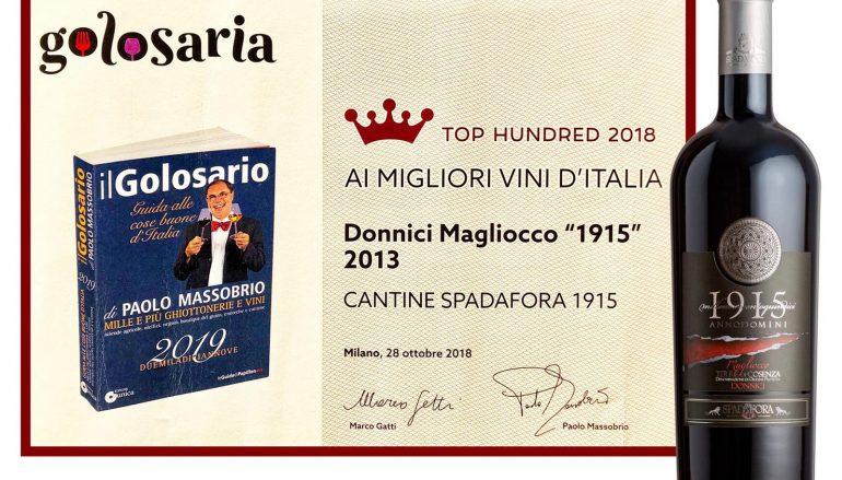 """Il """"Vino 1915 – Anno Domini"""" tra i 100 migliori d'Italia"""