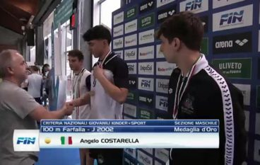 Il melitese Angelo Costarella campione italiano di nuoto