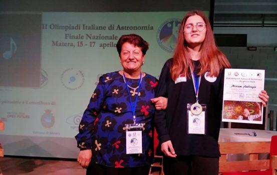 Olimpiadi Astronomia, medaglia per Miriam Ambrogio di Lazzaro