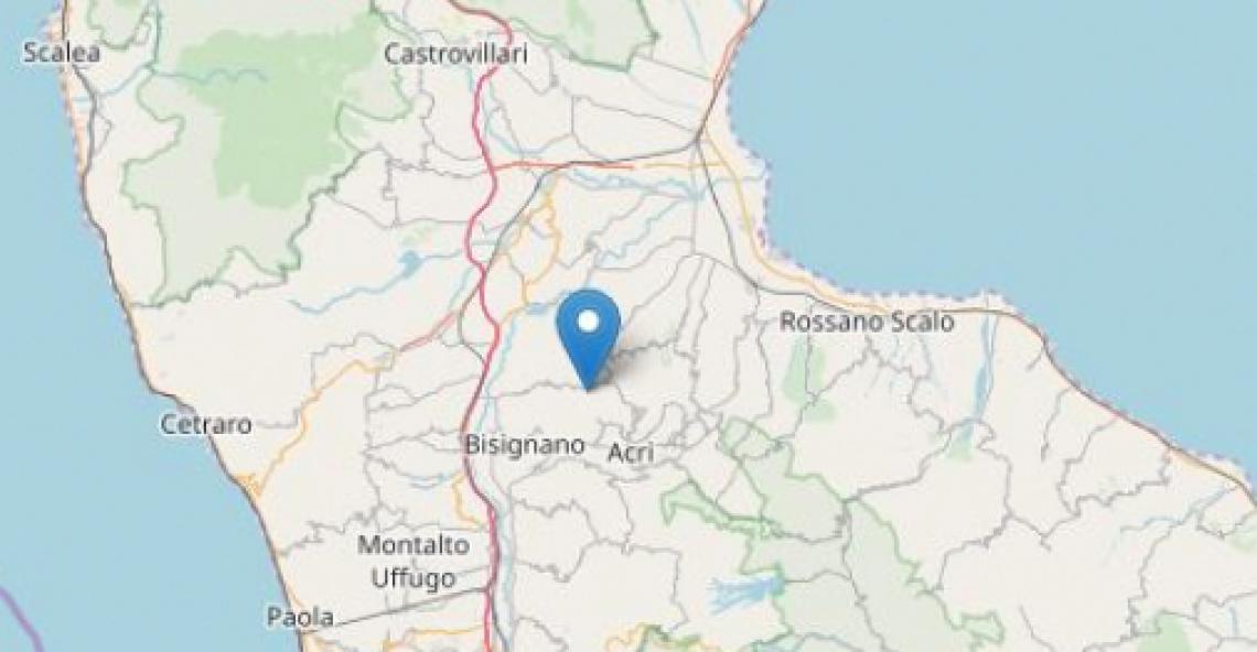 Terremoto Cosenza, i dati